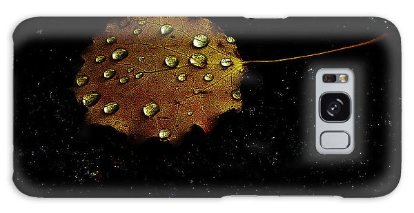 Drops On Autumn Leaf Galaxy Case