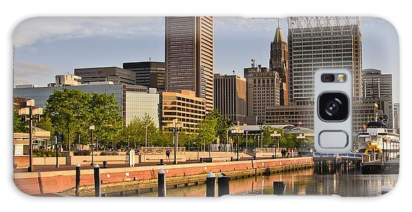 Early Morning Baltimore Inner Harbor Galaxy Case by Marianne Campolongo