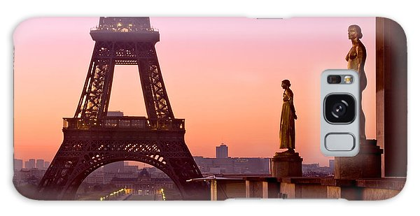 Galaxy Case featuring the photograph Eiffel Tower At Dawn / Paris by Barry O Carroll