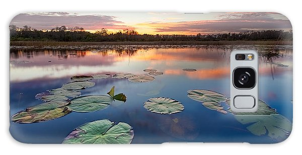Sea Lily Galaxy Case - Everglades At Sunset by Debra and Dave Vanderlaan