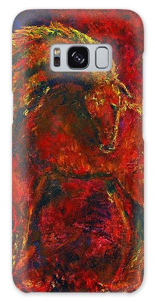 Fire Dance Horse II Galaxy Case by Jennifer Godshalk