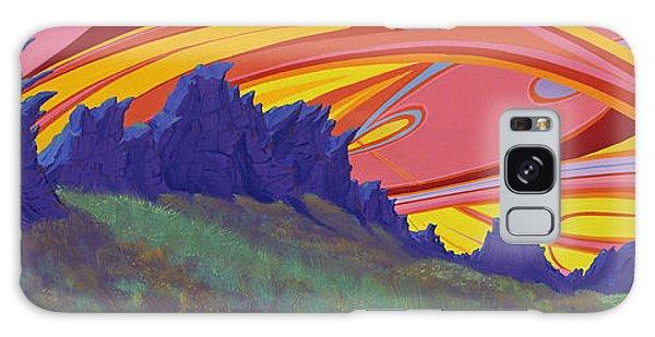 Fire Sky Over Devil's Backbone Galaxy Case by Alan Johnson