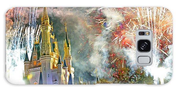 Fireworks Cinderellas Castle Walt Disney World Galaxy Case