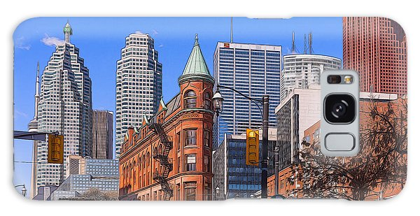 Flatiron Building In Toronto Galaxy Case