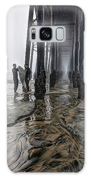 Fog At The Pier Galaxy Case