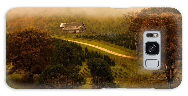 Foggy Autumn Country Road Galaxy Case