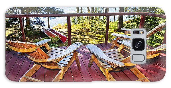 Adirondack Chair Galaxy Case - Forest Cottage Deck And Chairs by Elena Elisseeva