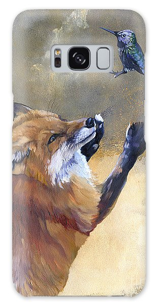 Fox Dances For Hummingbird Galaxy Case