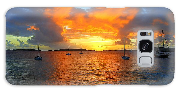 Frank Bay St. John U. S. Virgin Islands Sunset Galaxy Case