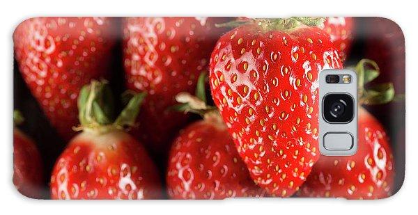 Gariguette Strawberries Galaxy Case by Aberration Films Ltd