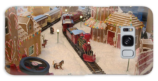 Gingerbread House Miniature Train Galaxy Case by Ellen Tully
