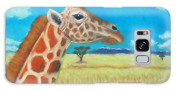 Giraffe Dreaming Galaxy Case