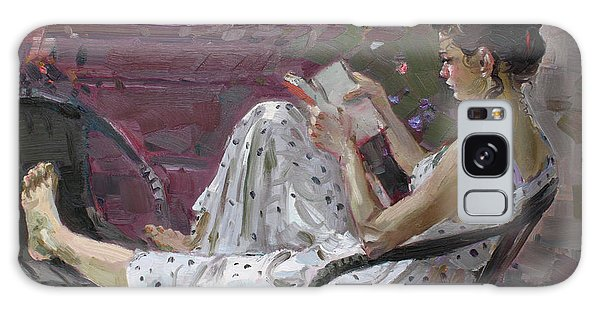 Girl Reading Galaxy Case