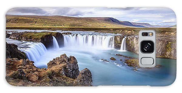 Godafoss Waterfall Galaxy Case