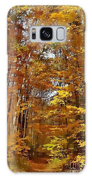 Golden Autumn Galaxy Case by Andrea Kollo
