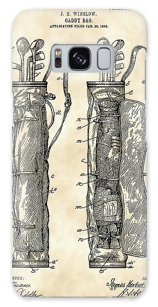 Sport Galaxy Case - Golf Bag Patent 1905 - Vintage by Stephen Younts