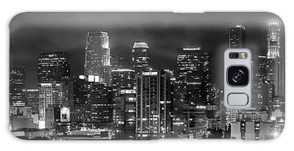 Los Angeles Skyline Galaxy S8 Case - Gotham City - Los Angeles Skyline Downtown At Night by Jon Holiday