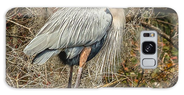 Great Blue Heron Galaxy Case by Jane Luxton