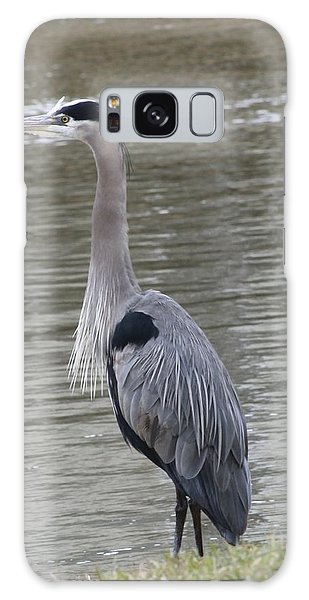 Great Blue Heron Galaxy Case