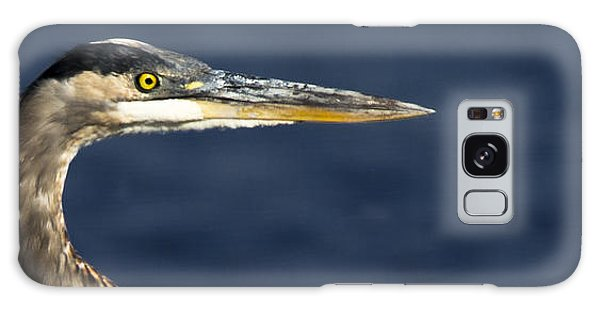 Great Blue Heron Galaxy Case by Ursula Lawrence