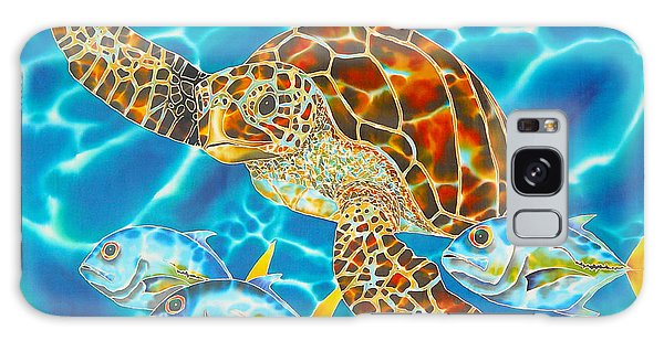 Green Sea Turtle Galaxy Case