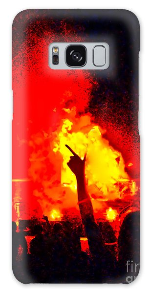 Galaxy Case featuring the photograph Guns-up Salute by Mae Wertz