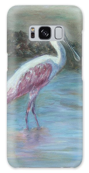 Happy Spoonbill Galaxy Case