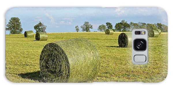 Hay Bales In Spring Galaxy Case