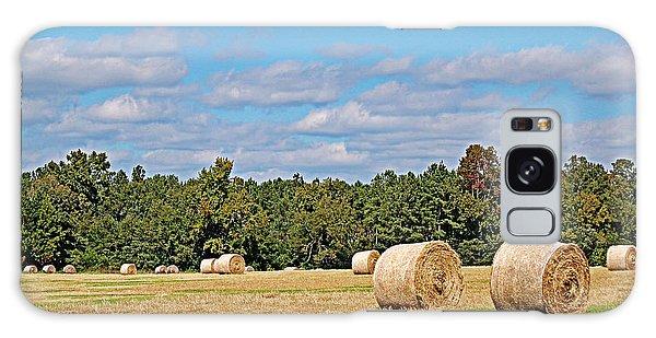 Hay Field Galaxy Case by Linda Brown