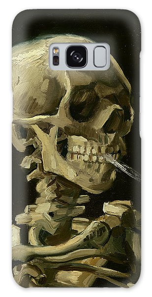 Head Of A Skeleton With A Burning Cigarette Galaxy Case
