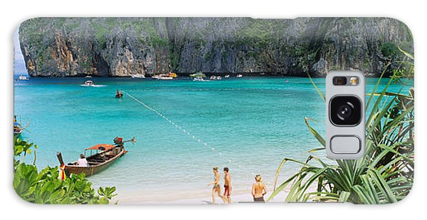 Phi Phi Island Galaxy Case - High Angle View Of Tourists by Panoramic Images