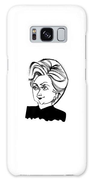 Hillary Clinton Galaxy S8 Case - Hillary Clinton by Tom Bachtell