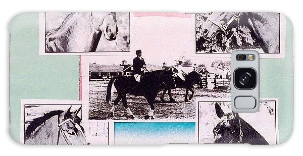 Horse And Rider C Galaxy Case