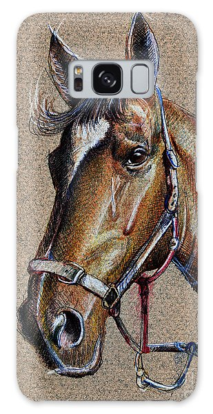 Horse Face - Drawing  Galaxy Case