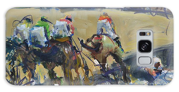 Horse Racing Painting Galaxy Case
