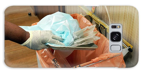 Rubbish Bin Galaxy Case - Hospital Waste Disposal Routine by Public Health England/science Photo Library