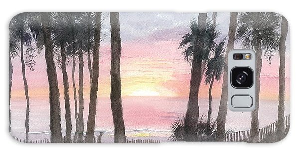 Hunting Island Sunrise Galaxy Case