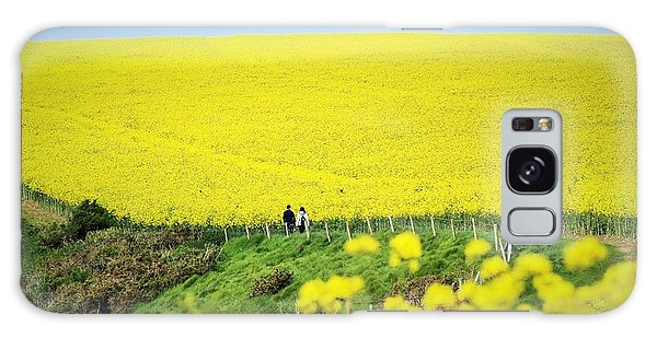 Rapeseed Field... Love Story Galaxy Case