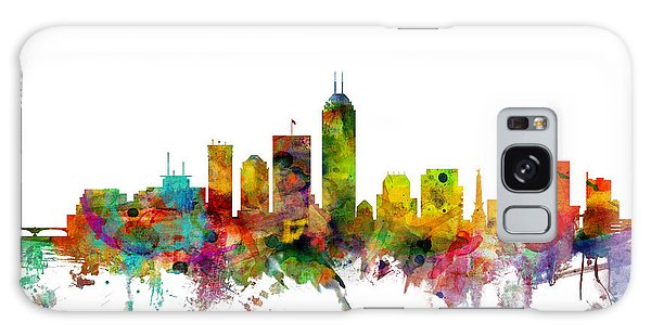 Indianapolis Galaxy Case - Indianapolis Indiana Skyline by Michael Tompsett
