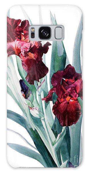 Dark Red Tall Bearded Iris Donatello Galaxy Case