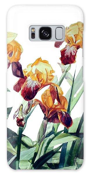 Watercolor Of Tall Bearded Irises I Call Iris La Vergine Degli Angeli Verdi Galaxy Case