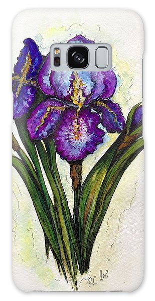 Irises Galaxy Case by Rae Chichilnitsky