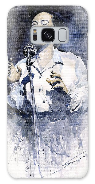Portret Galaxy Case - Jazz Billie Holiday Lady Sings The Blues  by Yuriy Shevchuk