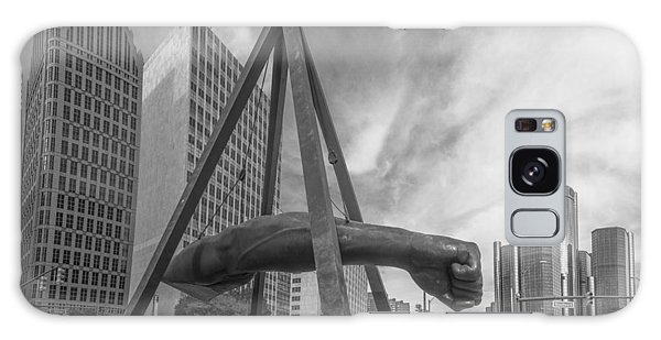 Joe Louis Fist In Detroit  Galaxy Case by John McGraw