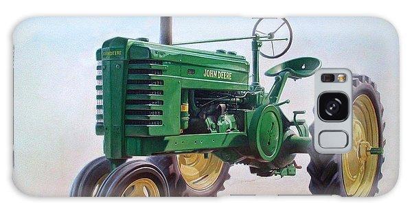 Rural Scenes Galaxy Case - John Deere Tractor by Hans Droog