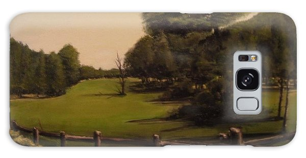 Landscape Of Duxbury Golf Course - Image Of Original Oil Painting Galaxy Case
