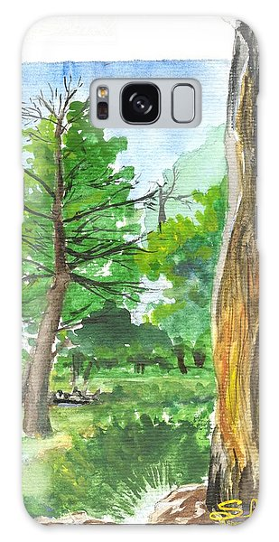 Lightening Strike Tree Galaxy Case by Sherril Porter
