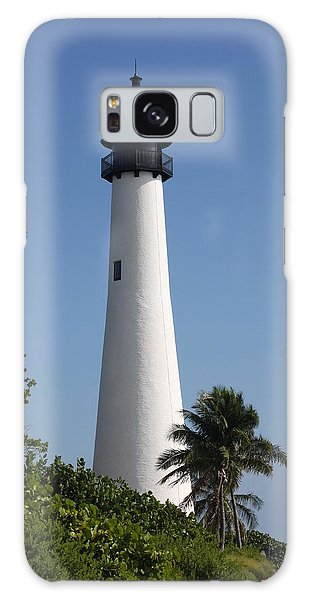 Ligthouse - Key Biscayne Galaxy Case by Christiane Schulze Art And Photography