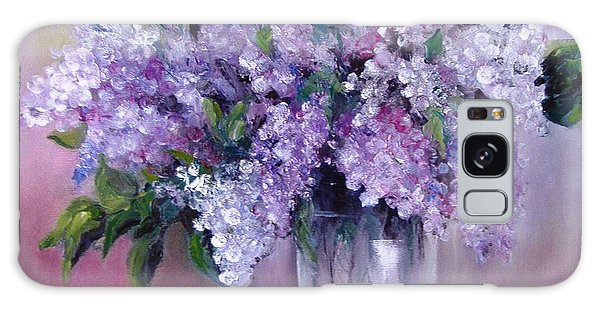 Lilac Galaxy Case by Nina Mitkova