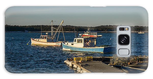 Lobster Boats Maine  Galaxy Case by Trace Kittrell